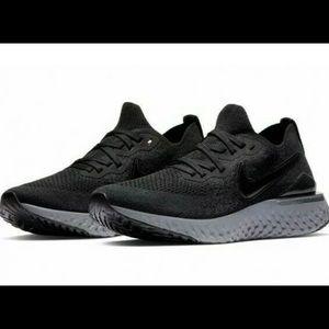 Nike Epic React Flyknit 2 Black Gray Shoes BQ8927